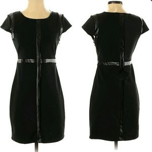 Romeo & Juliet Couture Dress Sheath Edgy Leather